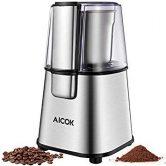 AICOK Molinillo de café eléctrico, 200 vatios, para Frijoles Especias Semillas Nueces