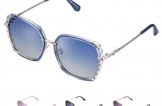 rezi Gafas de Sol Mujer Polarizadas, Lente de nylon 100% protección UVA/UV 400, Marco Metal