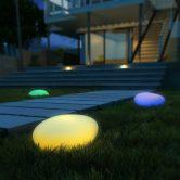 Kealive Lámpara Solar Exterior, 8 Colores Ajustables, Clase IP67 a Prueba De Agua