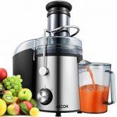 Aicok Licuadora Para Verduras y Frutas, Boca Ancha de 75MM, 2 Velocidades con Base Antideslizante