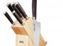 Deik Juegos Cuchillos Cocina, 6 Piezas, Incluye un Bloque de Madera y 5 Piezas de Cuchillos