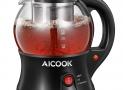 AICOOK Hervidor de Agua con Infusor de Té, 0.8L, Mantener Caliente, Apagado Automático