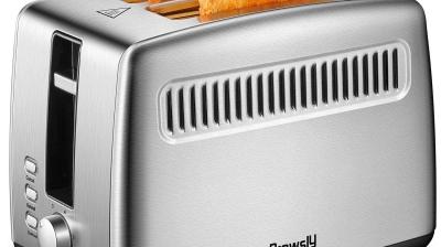Brewsly Tostadora Automática de 2 Ranuras con 7 Funciones Ajustables, 800W