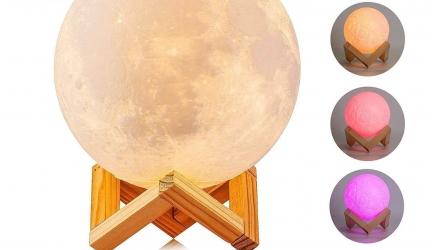 46% de descuento Lámpara de Luna de Impresión 3D Recargable