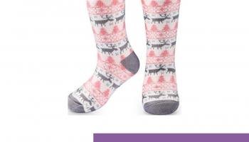 ❗️RenFox Mujer Hombre Navidad Calcetines Invierno Calentar Pantuflas de Estar Por Casa Super Suaves Cómodos Calcetines Antideslizante