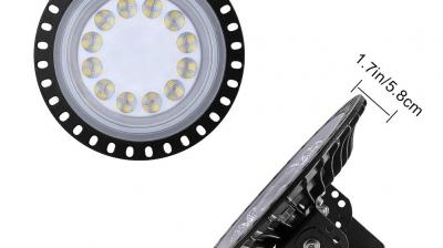 50W UFO Iluminación LED Alta,120°Lámpara Industrial Ultra Delgada