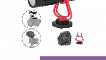 ❗️Universal Video Shotgun Microphone para Vlog Compact en DSLR Camera Micrófono Compatible para Sony/Canon/Nikon/Pentax DSLR Mac Tablet iPhone/Smartphones, Grabación Youtube/Entrevista