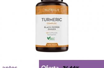 ❗️Cúrcuma orgánica Turmeric (650mg) con Jengibre(50mg) y Pimienta Negra(10mg) | 120 cápsulas vegetales | Máxima calidad | Potente antiinflamatorio y antioxidante natural | Cúrcuma complex | Nutralie