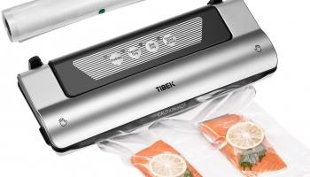 TIBEK 4 En 1 Domesticas Automático Sellador al Vacío de Alimentos Profesional con Cortador